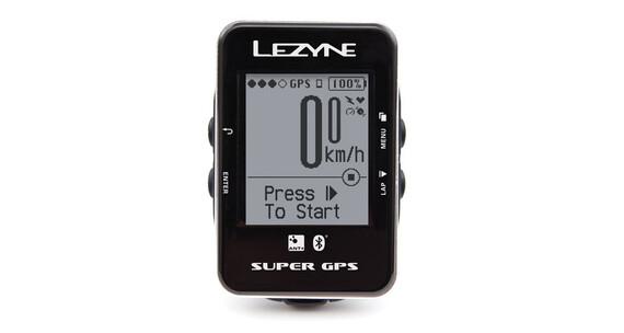 Lezyne Super GPS - Compteur sans fil - noir